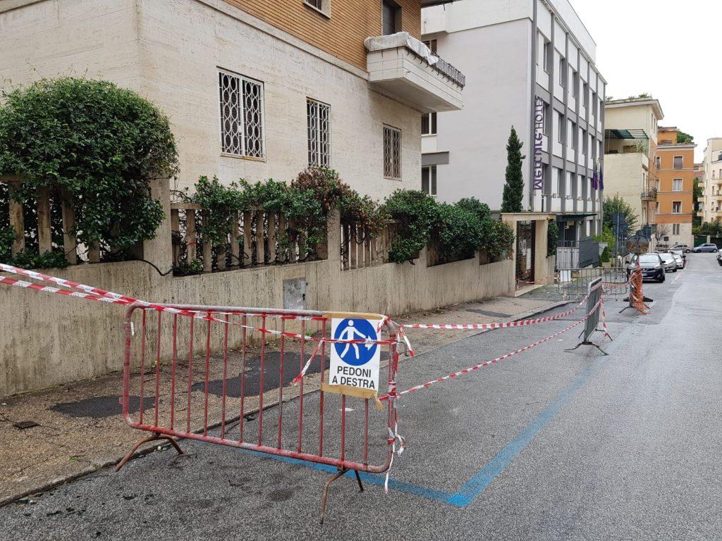 L'area di via Parenzo interessata dai lavori