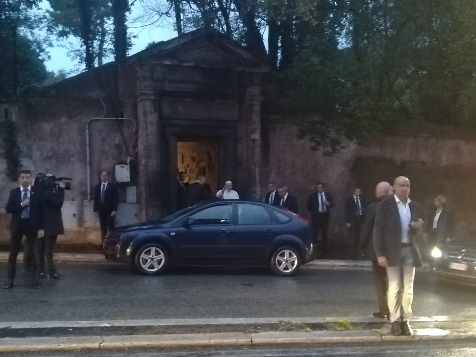 papa francesco catacombe di priscilla