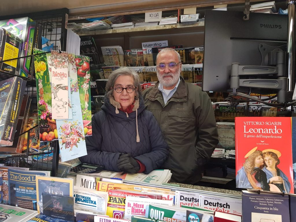 Piazza Vescovio, Carla Foffi con il marito Leonardo Possidoni