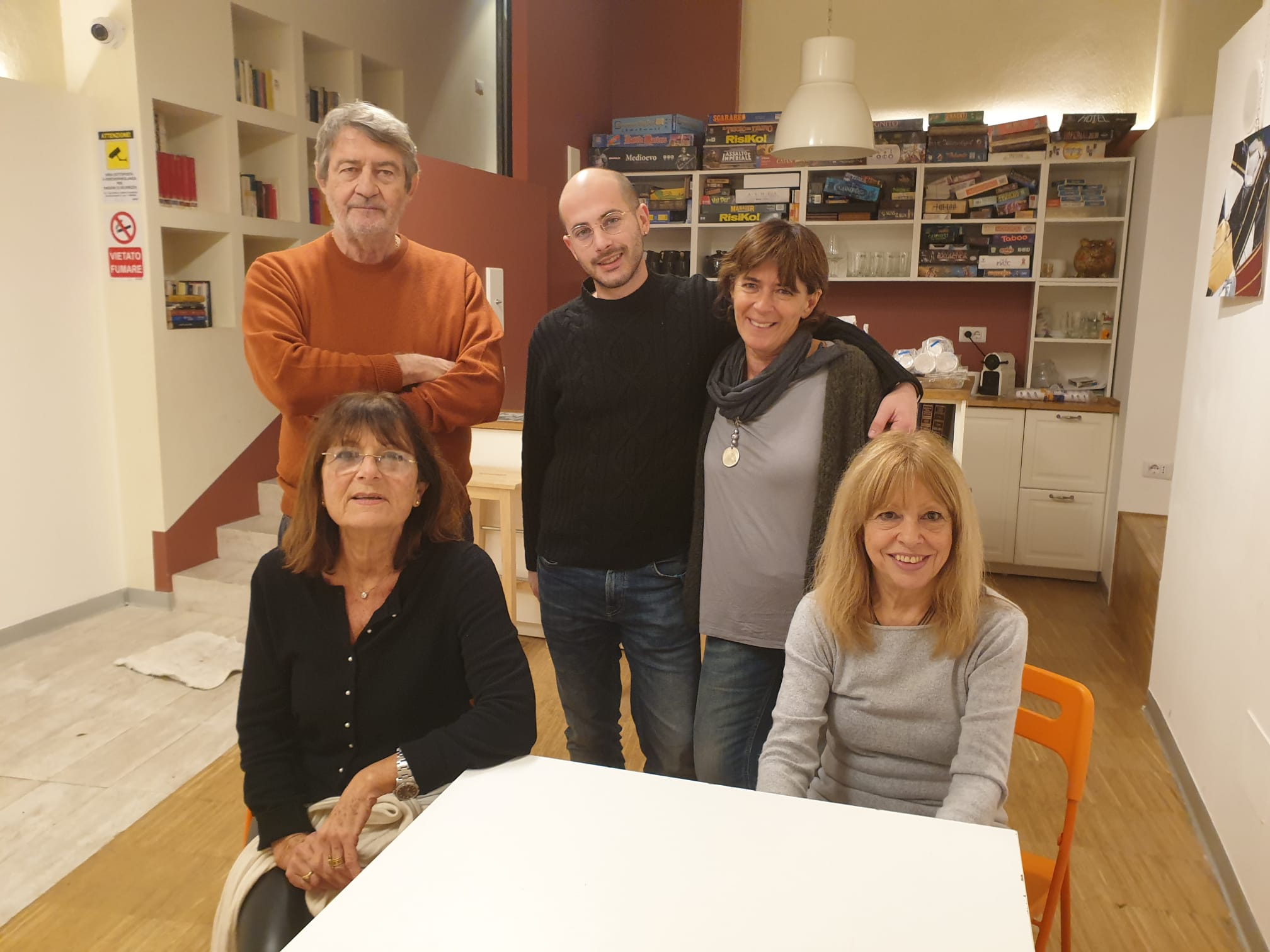 Da sinistra: Mauro Bandinelli, Patrizia Sacco, Riccardo Leolini, Cristina Ottaviano, Vittoria Pagliuca
