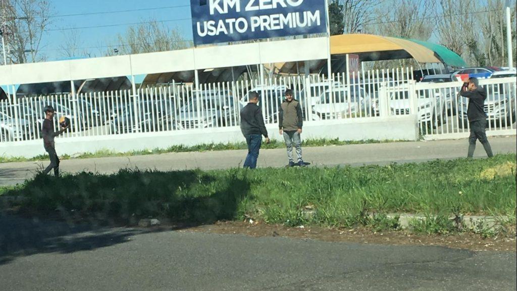 Nomadi nei pressi del campo di via del Foro Italico