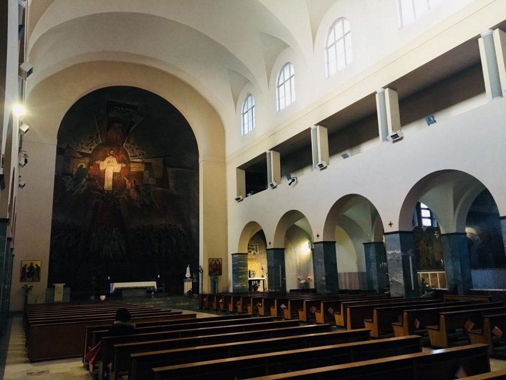 L'interno della chiesa di Santa Emerenziana