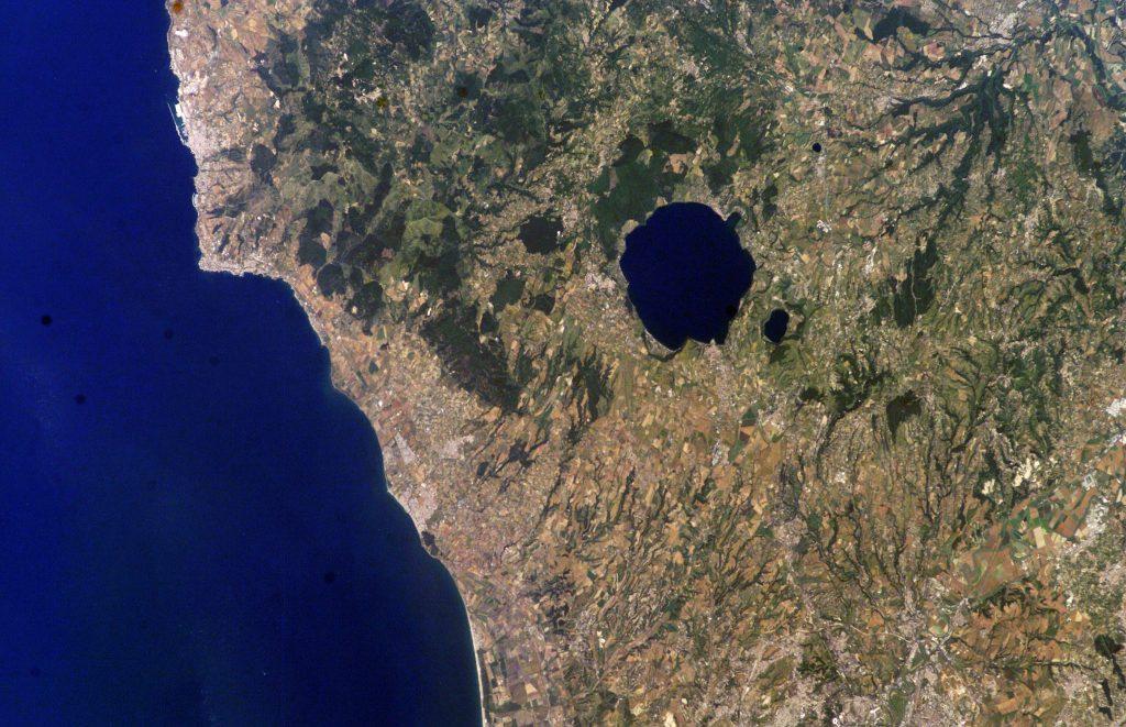 I Monti Sabatini visti dall'alto
