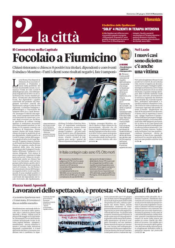 La Cronaca Di Roma Le Prime Pagine Dei Giornali Di Oggi 28 Giugno Flaminio Parioli
