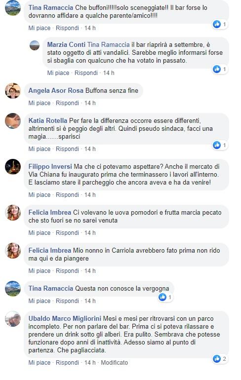 Alcuni dei commenti sulla pagina Facebook Quartiere Trieste Salario - II Municipio