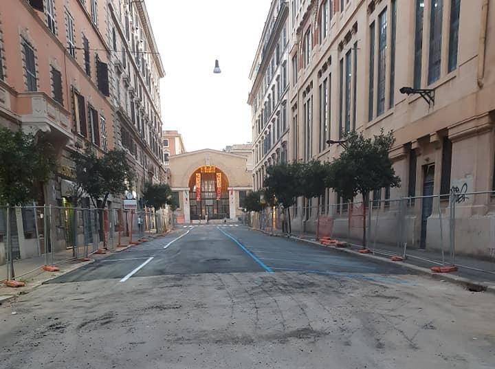 Foto di via Alessandria tratta dal profilo Facebook della presidente della commissione Urbanistica del II Municipio, Valentina Caracciolo