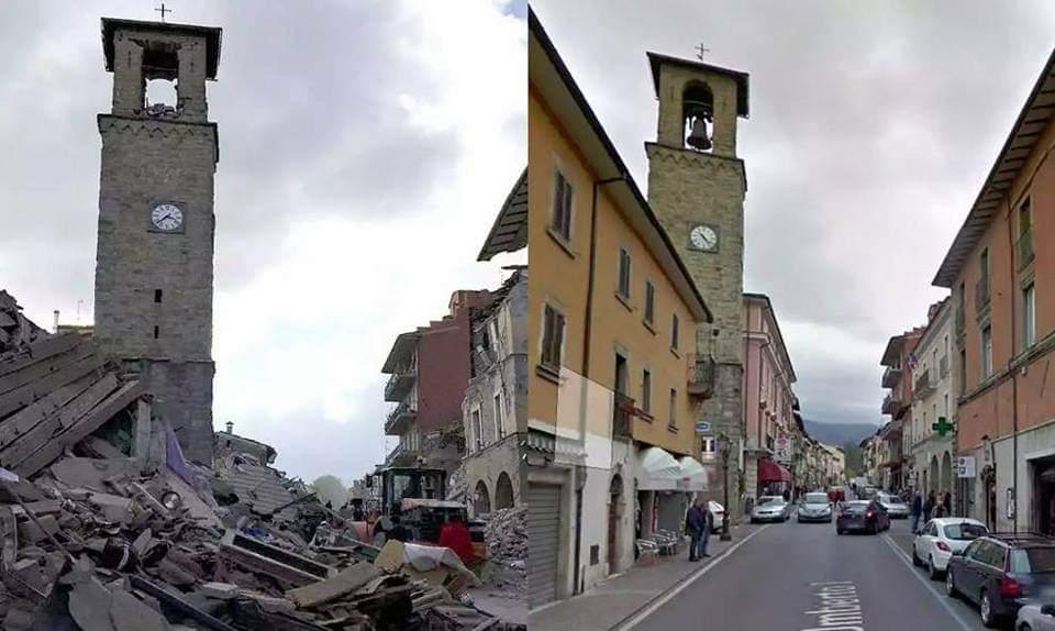 Amatrice prima e dopo il terremoto del 24 agosto 2016: è la data spartiacque della sua storia