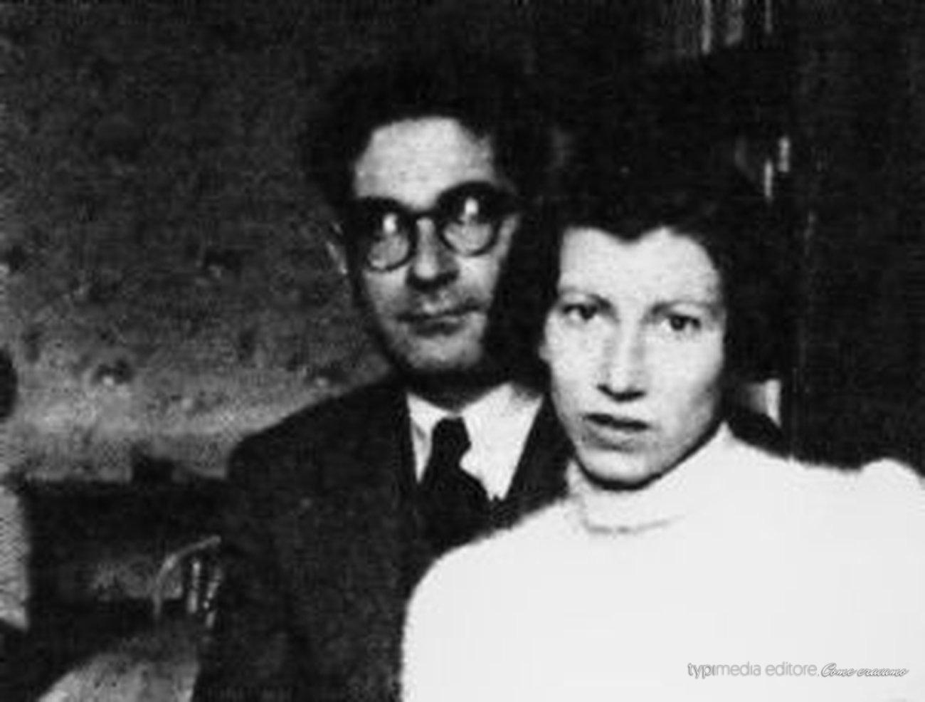 LA FAMIGLIA Leone con la moglie, Natalia Ginzburg, sposata nel 1938