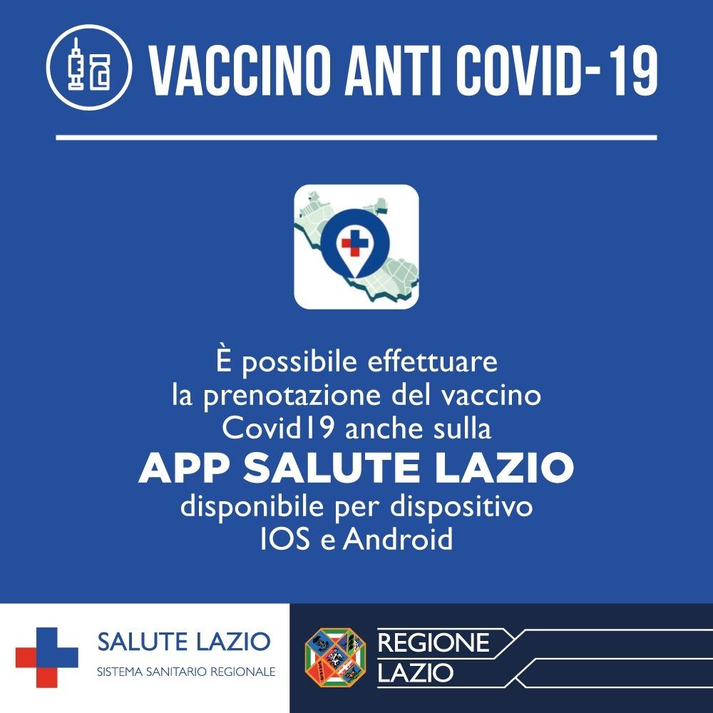 L'app di Salute Lazio per prenotare i vaccini