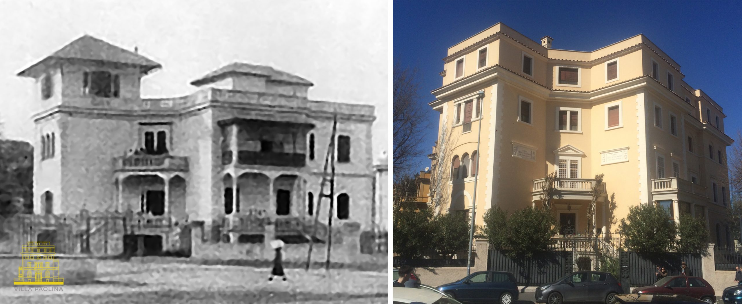 I cambiamenti del prospetto sud di Villa Paolina dal 1922 a oggi