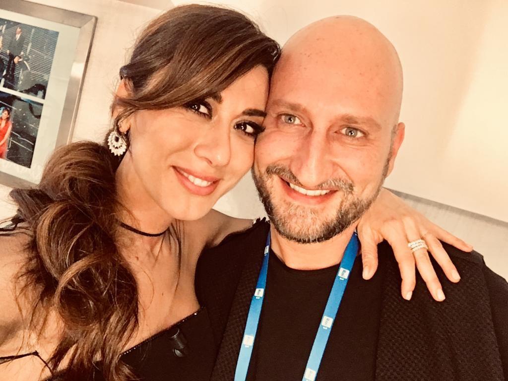 L'hairstylist Antonio Morici con l'attrice e comica Virginia Raffaele