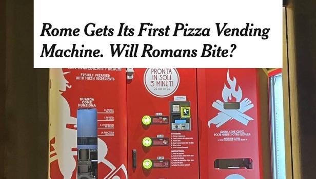 Il distributore automatico di pizza sul New York Times