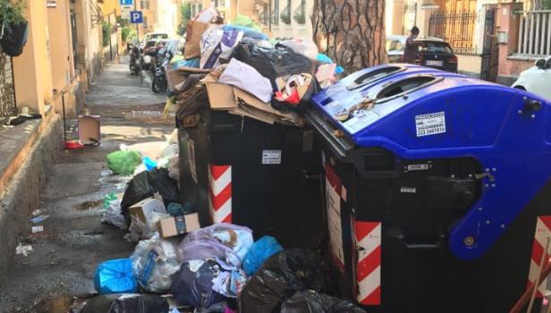 Rifiuti al Trieste-Salario