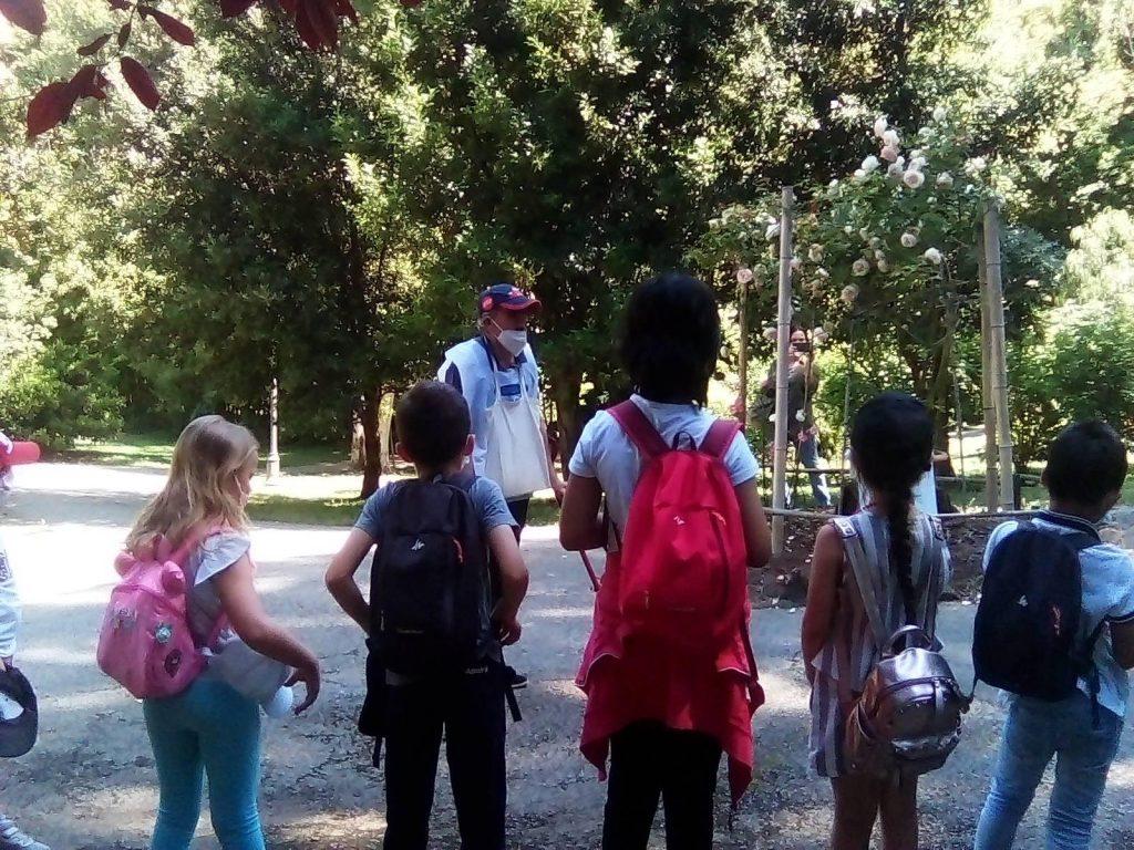 Bambini a lezione da Massimo Proietti Rocchi