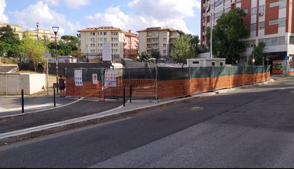 Il cantiere per il parcheggio interrato di piazza Annibaliano