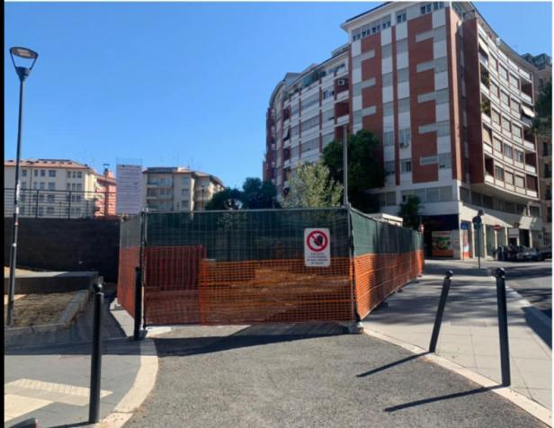 Il cantiere per il parcheggio davanti alla metro Sant'Agnese-Annibaliano