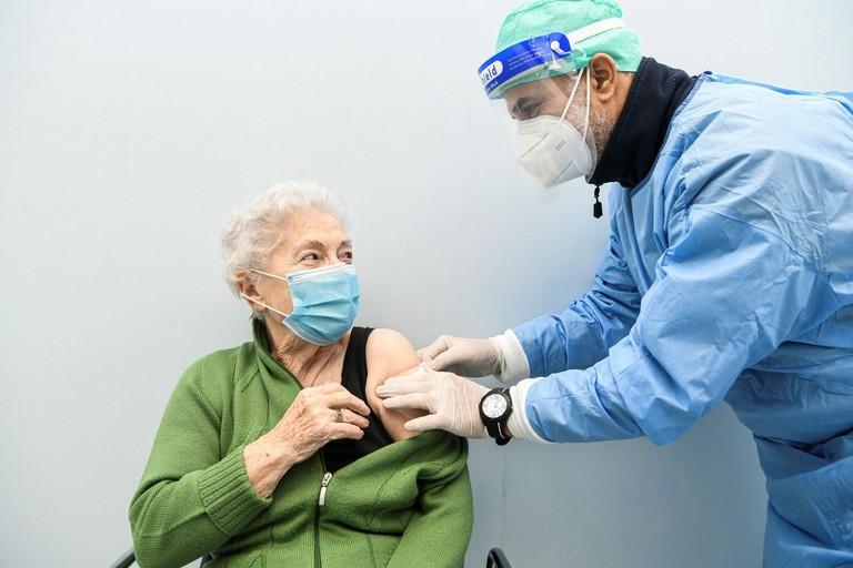 Una paziente del servizio Asl