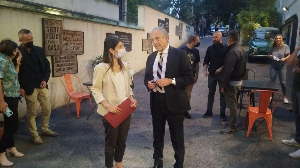 Virginia Raggi e Marcello Ciccaglioni