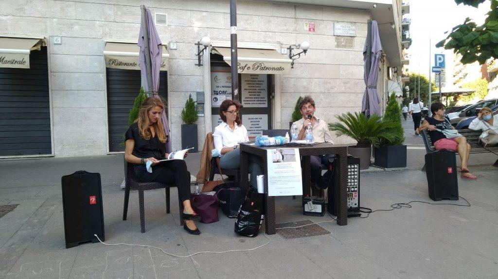 Arianna Camellini, Sara Fabrizi e Antonio Tiso